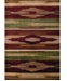 """Asbury Looms Contours Native Chic 510 28634 69 Burgundy 5'3"""" x 7'6"""" Area Rug"""
