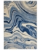 "Nourison CLOSEOUT! Moraine MO749 Light Blue 2'3"" x 8' Runner Rug"
