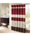 """Madison Park Serene 72"""" x 72"""" Colorblocked Embroidered Shower Curtain"""