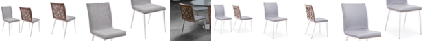 Armen Living Crystal Dining Chair (Set of 2)