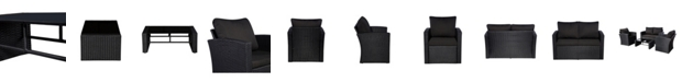 Westin Furniture 4-Piece Conversation Sofa Set with Plush Cushions