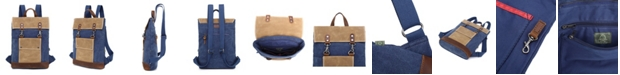 TSD BRAND Hillside Canvas Backpack