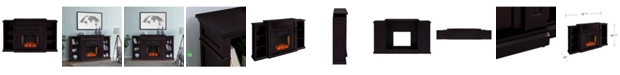 Southern Enterprises Cardewell Alexa-Enabled Fireplace with Bookcases