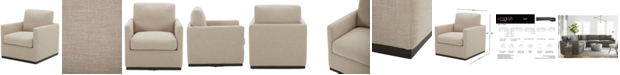Furniture Joud Fabric Accent Swivel Chair