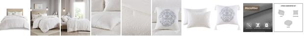 Madison Park Prelude 4 Piece Microsculpt Full/Queen Comforter Set