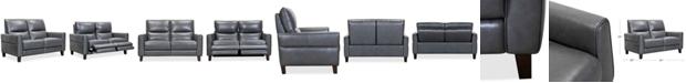 "Furniture Tyvon 61"" Leather Power Motion Loveseat"