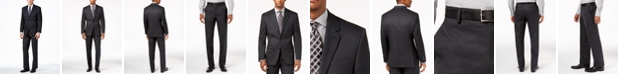 Alfani Men's Traveler Charcoal Solid Big and Tall Classic-Fit Suit Separates, Created for Macy's