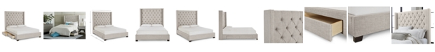 Furniture Closeout! Monroe Storage Upholstered Full Bed, Created for Macy's