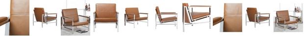 Clickhere2shop Atlas Chair Bonded Leather - Black