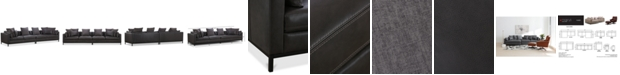 Furniture CLOSEOUT! Plassey 2-Pc. Leather Sectional Sofa