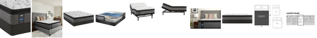 "Sealy Posturepedic Lawson LTD 13.5"" Cushion Firm Euro Pillow Top Mattress Set- Queen"