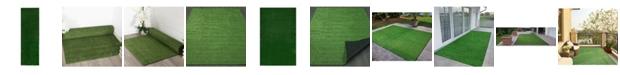 "Ottomanson Evergreen Collection Indoor/Outdoor Artificial Grass, 78"" x 111"""