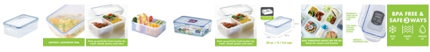 Lock n Lock Easy Essentials On the Go Divided Rectangular 34-Oz. Food Storage Container