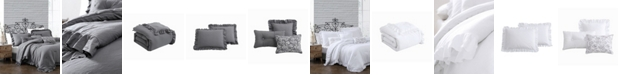 Montage Home Davina Enzyme Ruffled 6 Piece Comforter Set, Queen