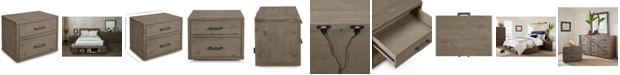 Furniture Brandon USB Power Outlet Nightstand, Created for Macy's