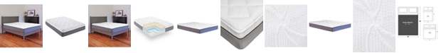 Chic Couture Sleep Trends Sofia Plush Gel Memory Foam 14-Inch Mattress, Quick Ship, Mattress in a Box - Queen