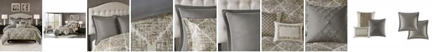 JLA Home Madison Park Signature Plateau Queen 8 Piece Jacquard Comforter Set