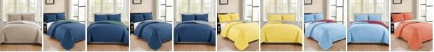 RT Designers Collection Park Avenue 3-Piece Reversible Quilt Set - Queen