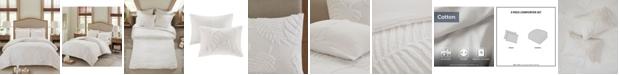 Madison Park Bahari Full/Queen 3-Pc. Tufted Cotton Chenille Palm Comforter Set