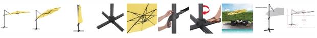 CorLiving Distribution UV Resistant Deluxe Offset Patio Umbrella