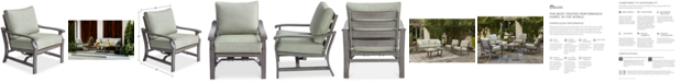 Furniture Tara Aluminum Outdoor Rocker Chair, with Sunbrella® Cushions, Created for Macy's