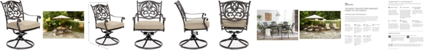 Furniture Chateau Aluminum Outdoor Dining Swivel Rocker with Sunbrella® Cushion, Created for Macy's