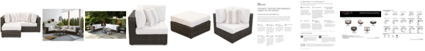 Furniture Viewport Outdoor 3-Pc. Modular Seating Set (2 Corner Units and 1 Ottoman) with Sunbrella® Cushions, Created for Macy's