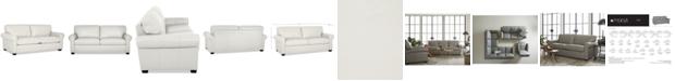 "Furniture Orid 79"" Leather Apartment Sofa, Created for Macy's"