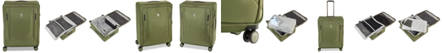 """Victorinox Swiss Army CLOSEOUT! VX Avenue 27.5"""" Large Expandable Softside Spinner Suitcase in Olive"""