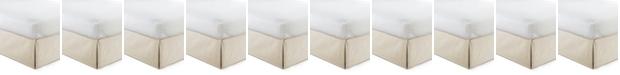 "Colcha Linens Cambric Vanilla Bedskirt 15""-California King"