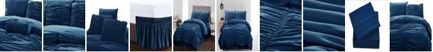 De Moocci Romantic Ruched Pleat 8-Piece Luxury Unique Comforter Set - Premium Hypoallergenic