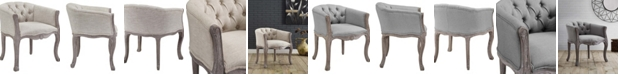 Modway Crown Vintage French Upholstered Fabric Dining Armchair