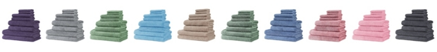 Makroteks Classic Turkish Towels Arsenal 8 Piece Turkish Cotton Towel Set with 2 Large Bath Sheets Collection