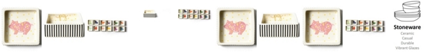 Coton Colors by Laura Johnson  Chinese Zodiac Pig Square Trinket Bowl