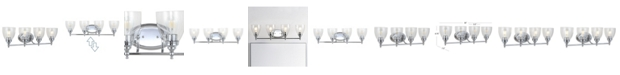 "JONATHAN Y Marais 30"" 4-Light LED Wall Sconce"