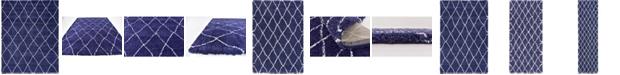 Bridgeport Home Fazil Shag Faz3 Navy Blue Area Rug Collection