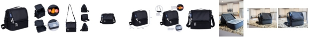 Wildkin Rip-Stop Black Two Compartment Lunch Bag
