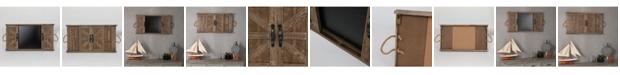 Luxen Home Barndoor Wall Plaque with Blackboard