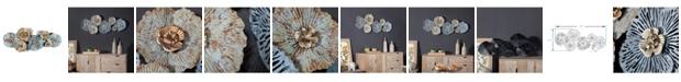 Luxen Home Distressed Flower Metal Wall Art