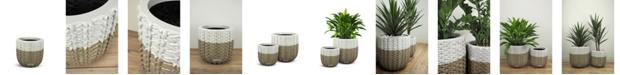 "Le Present Basket Fiberglass Planter 15"""