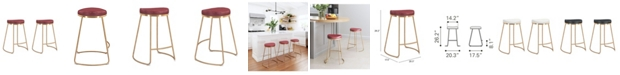 Zuo Bree Counter Stool, Set of 2