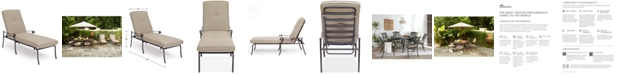 Furniture Chateau Aluminum Outdoor Chaise Lounge with Sunbrella® Cushion, Created for Macy's