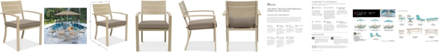 Furniture CLOSEOUT! Beach House Outdoor Dining Chair, with Sunbrella® Cushions, Created for Macy's