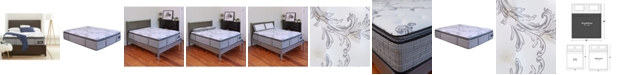 """Chic Couture Cool Gel Memory Foam and Wrapped Coil Hybrid 13"""" Pillow Top Mattress - King, Quick Ship, Mattress in a Box"""