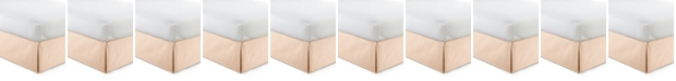 """Colcha Linens Cambric Peach Bedskirt 15""""-Twin"""