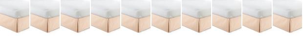 "Colcha Linens Cambric Peach Bedskirt 15""-California King"