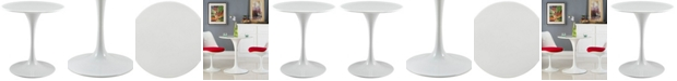 """Modway Lippa 28"""" Round Wood Top Dining Table"""