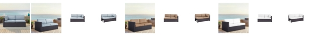 Crosley Biscayne Loveseat With Int Arm With Cushions