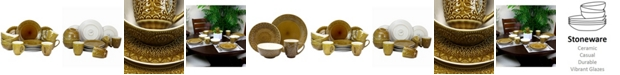 Elama Cleo 16 Piece Stoneware Dinnerware Set
