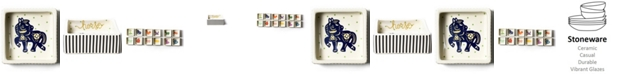 Coton Colors by Laura Johnson Chinese Zodiac Horse Square Trinket Bowl